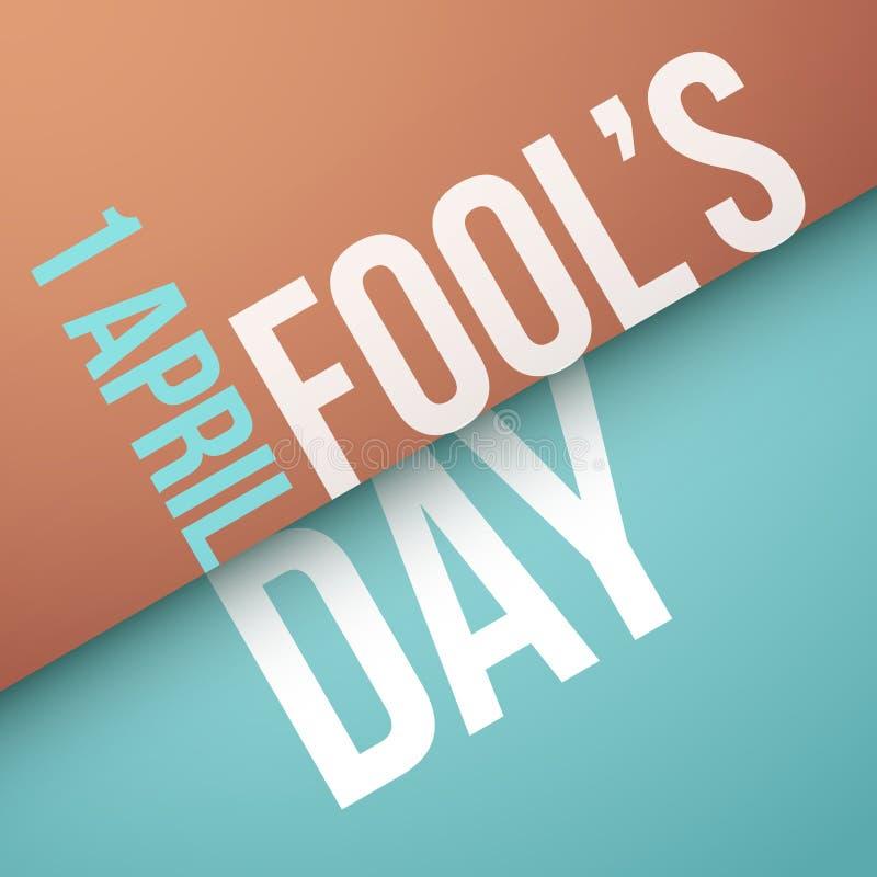 Fool`s Day, April 1st stock illustration