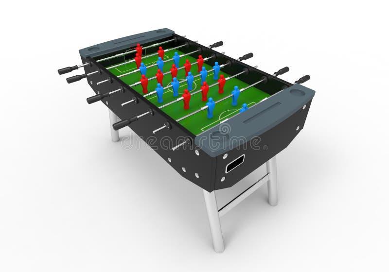 Foosball足球台式游戏机 皇族释放例证