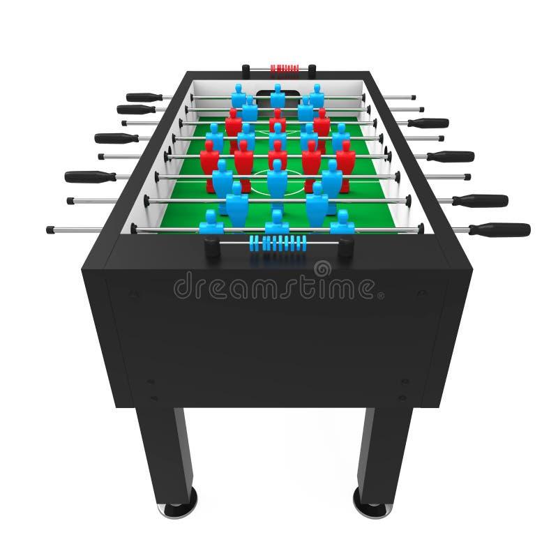 foosball足球被隔绝的台式游戏机图片