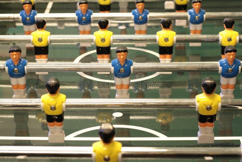 Foosball, футбольная игра таблицы стоковые изображения rf