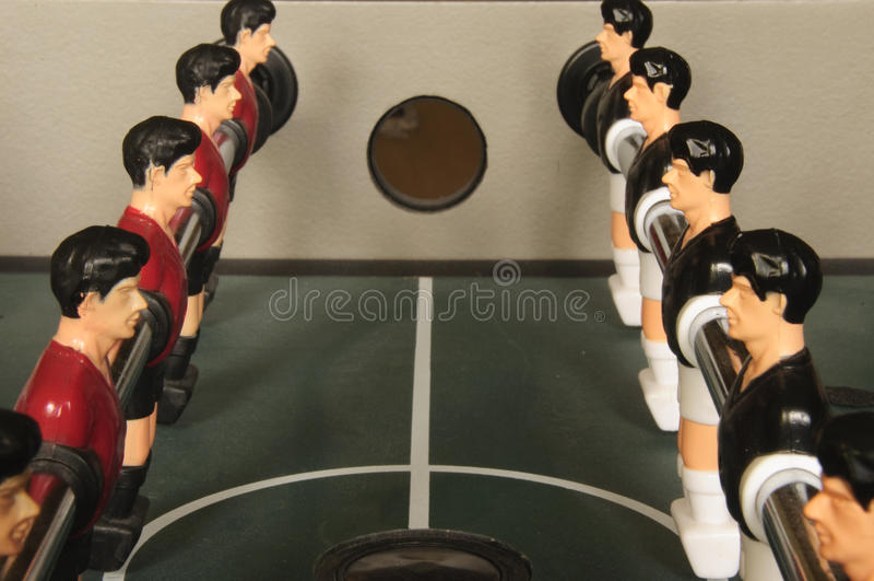 Foosball Anordnung stockfotografie