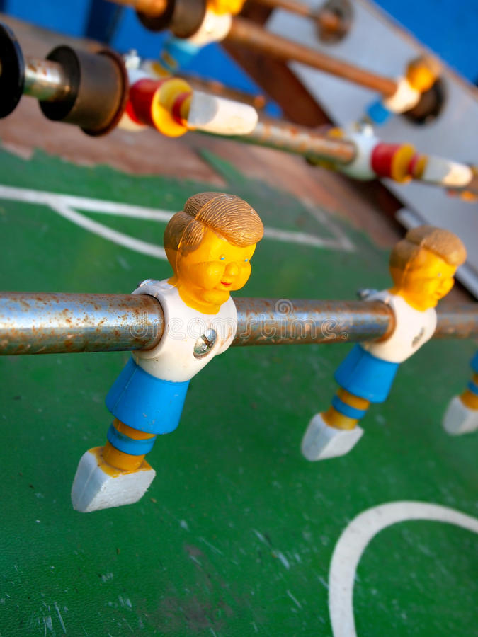 Foosball Player stock image