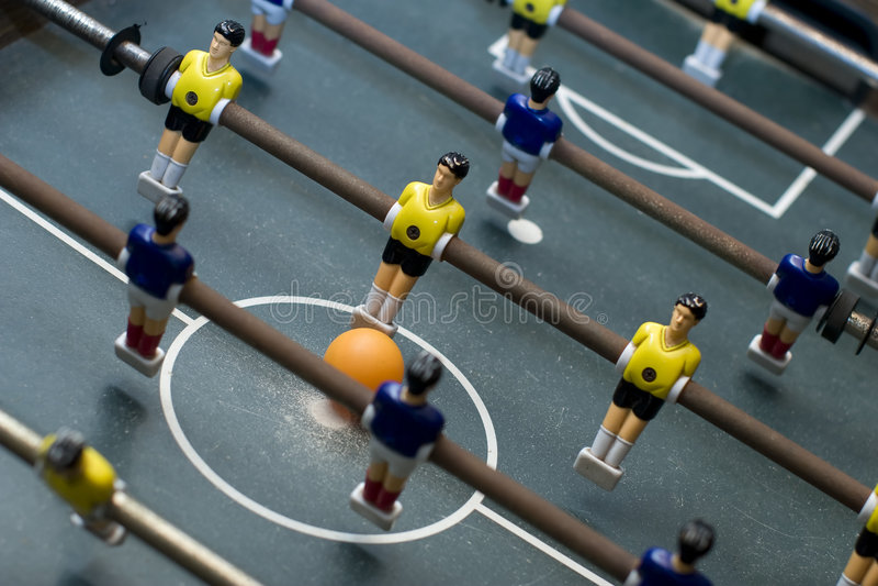 Foosball Spiel-Diagonalaufbau stockfotografie