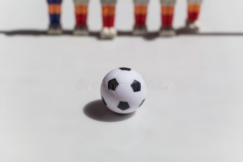 Foosball stołu piłka nożna gracza futbolu sporta teame fotografia royalty free