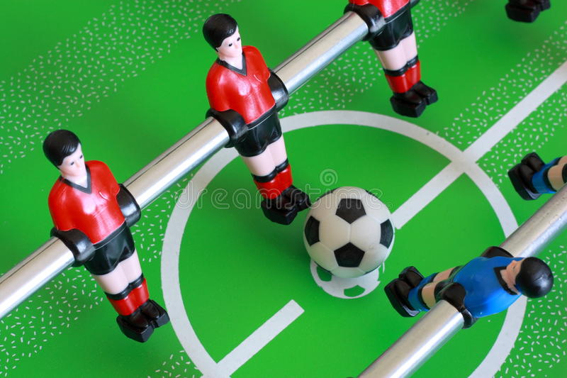 Foosball Tabellenabgleichung lizenzfreie stockbilder