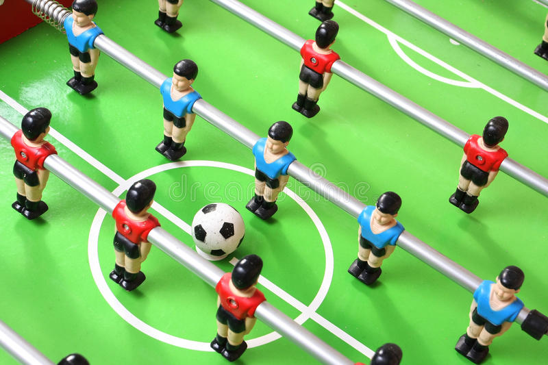 Download Foosball table detail stock photo. Image of football - 19032256
