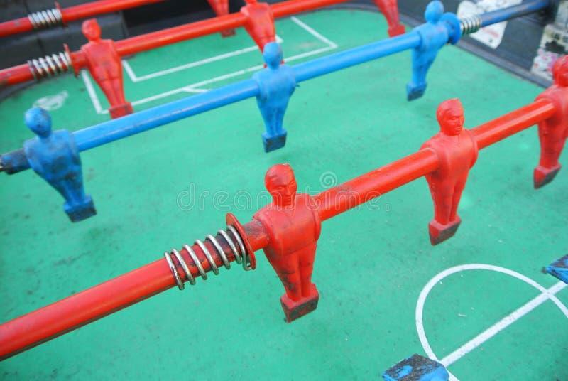 Foosball table player stock image