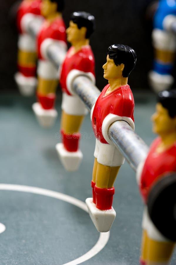 Foosball u hombres del fútbol del vector fotografía de archivo