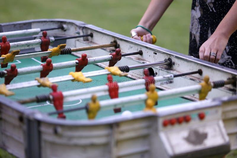Foosball und gol Tabelle austeilen lizenzfreie stockfotos