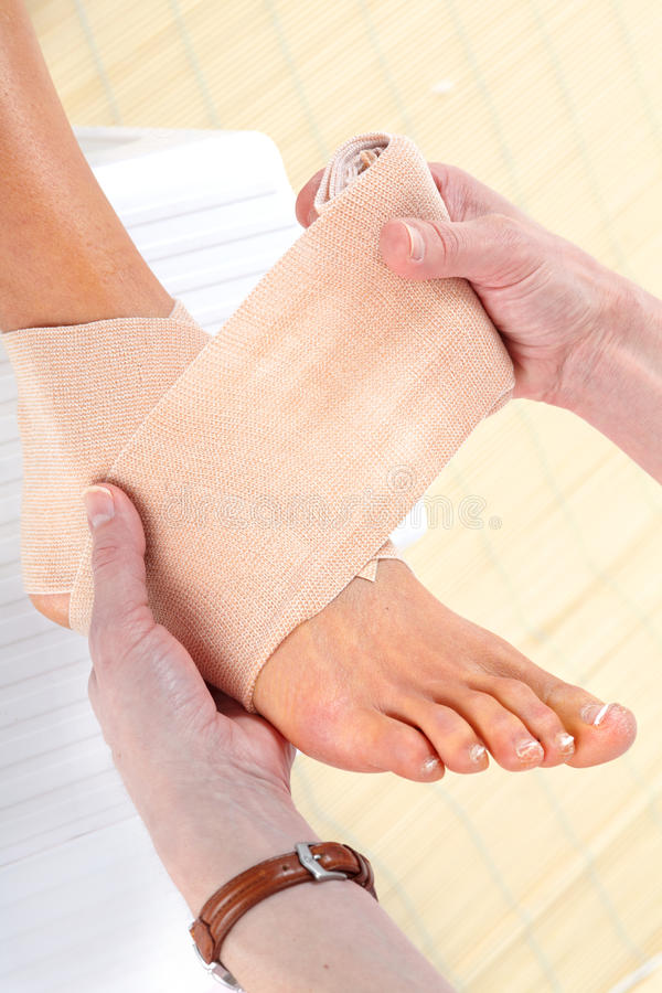 Download Foot Bandage stock photo. Image of medicare, insurance - 18643498