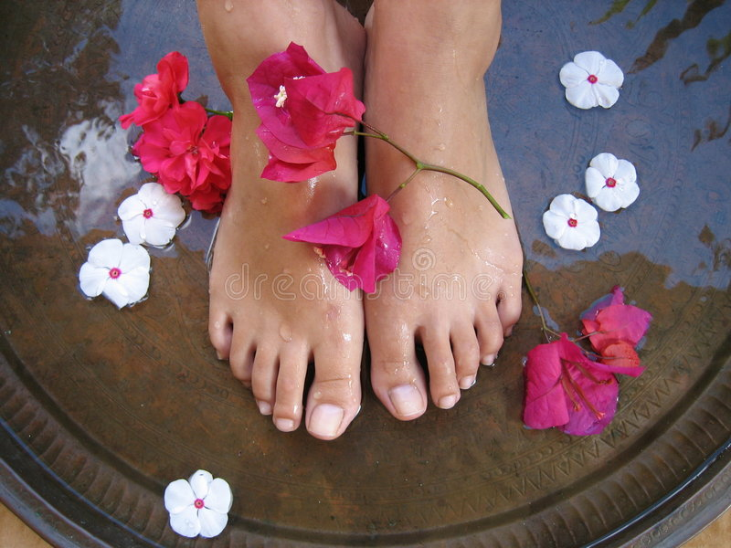 Download Foot Bath 1c stock photo. Image of hydrate, parlor, bougainvillea - 483672