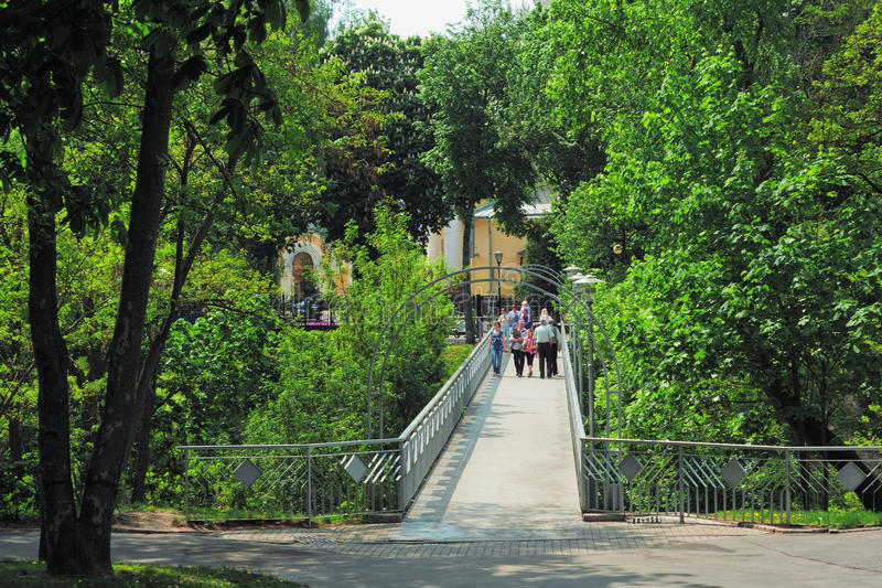 Download The Foot Bridge Through The Descent To River Editorial Image - Image: 17532205