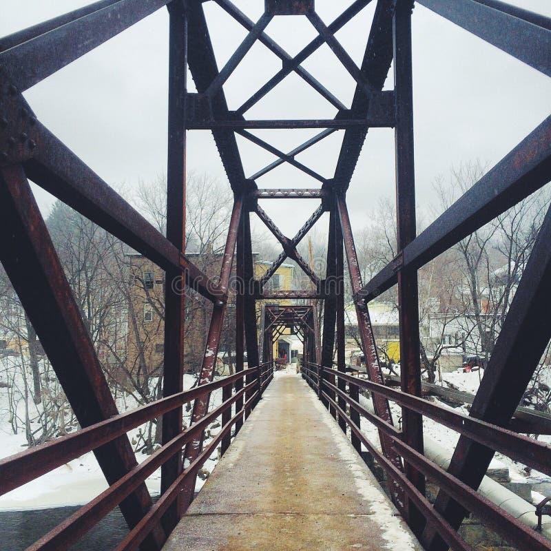 Foot bridge royalty free stock photos