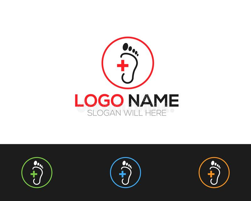 Foot care Logo Template online store vectors illustration. This is very easy to use. U ca Use as your won simply stock illustration