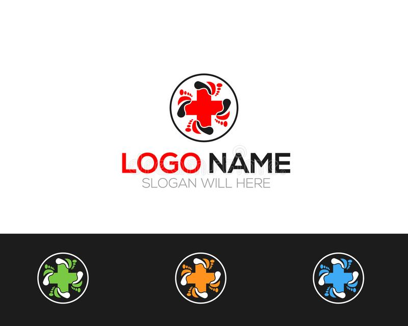 Foot care Logo Template online store vectors illustration. This is very easy to use. U ca Use as your won simply royalty free illustration