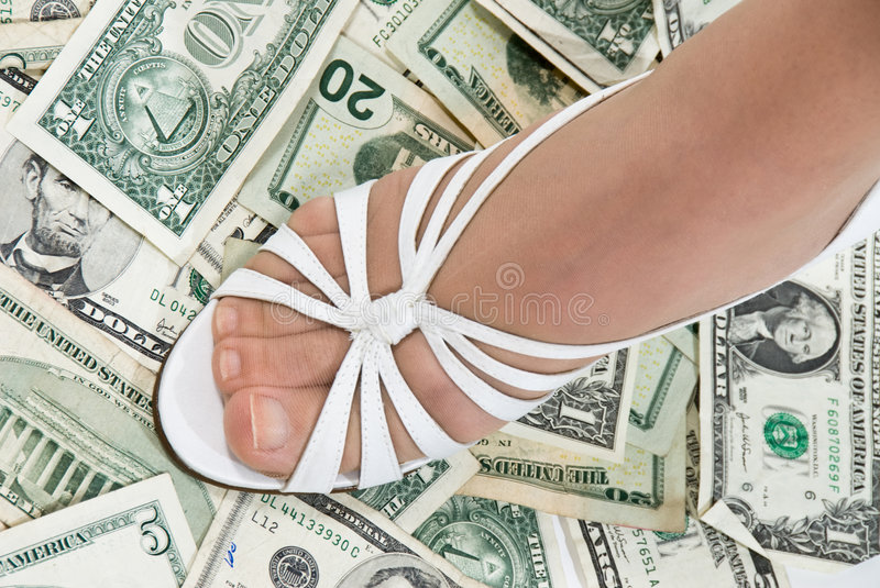 Download Foot On Cash Royalty Free Stock Photography - Image: 3395777