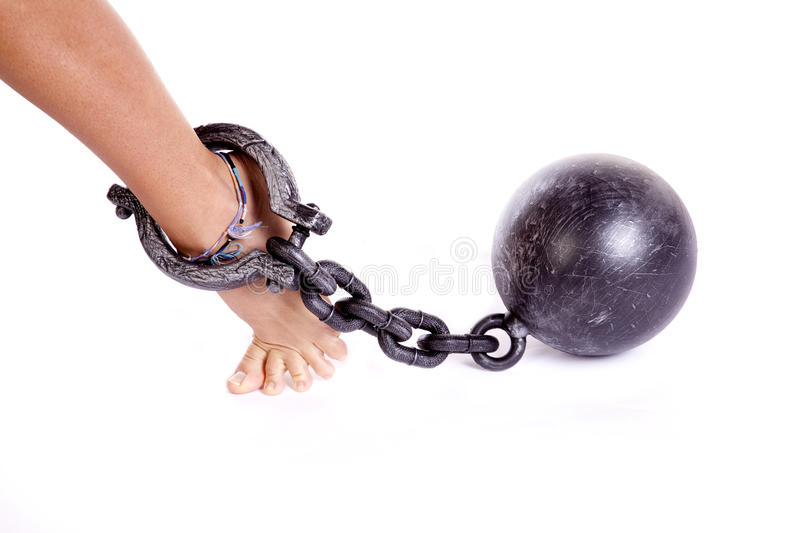 Download Foot chain stock image. Image of enslave, burdened, ankle - 16493357