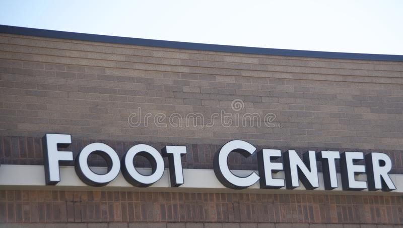 Foot Doctor Podiatrist Office stock photo