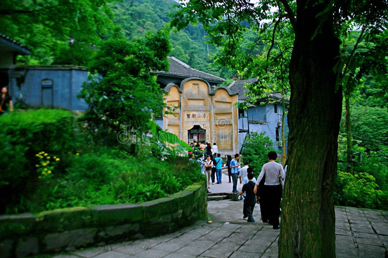Cinder Cave in Chongqing. In the foot of Geleshan, Chongqing, 2.5 kilometers away from White Residence. Cinder Cave was originally a small coal mine on the stock image
