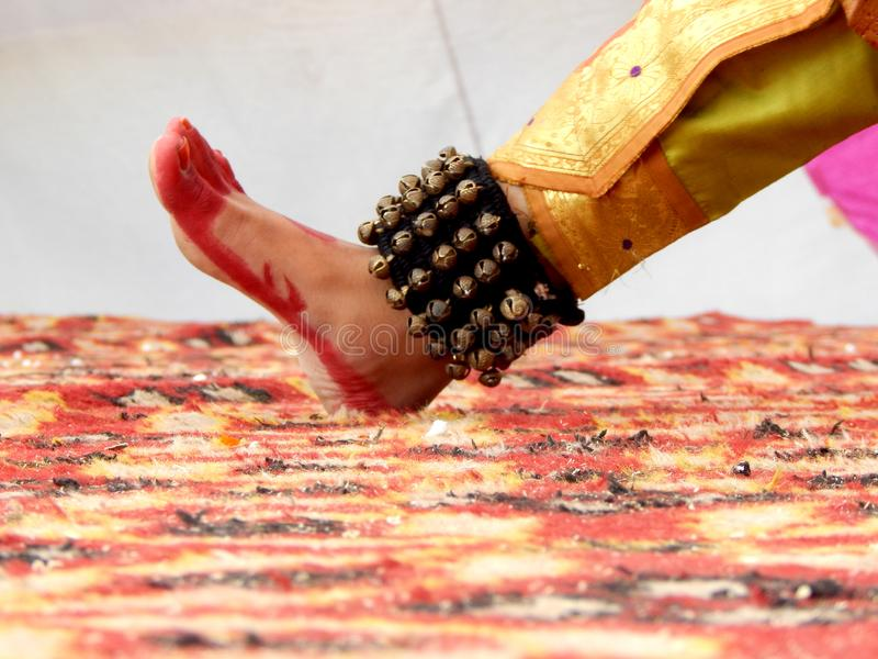 Foot of a classical dancer stock photos