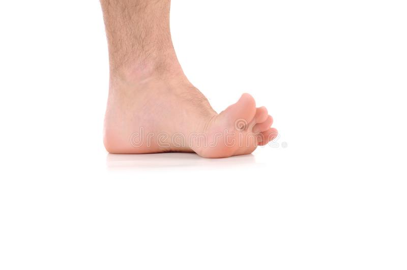 Foot itching. Infection of the feet caused by fungus. royalty free stock images