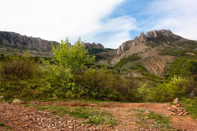Foot Karaby. Foot Crimean mountains. The picture was taken at the foot of Karaby royalty free stock image