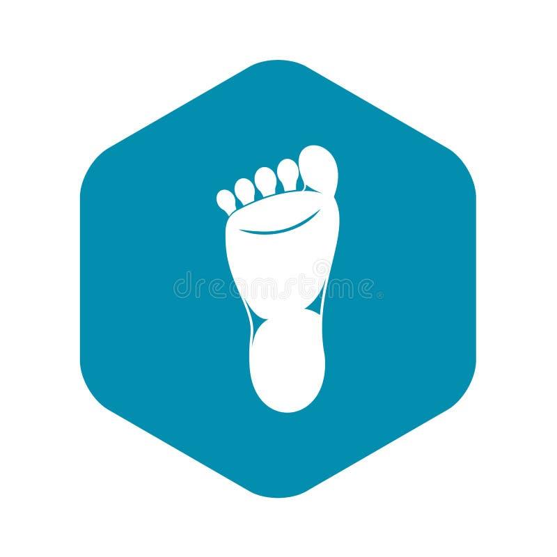 Foot left leg icon, simple style. Foot left leg icon. Simple illustration of foot left leg vector icon for web vector illustration