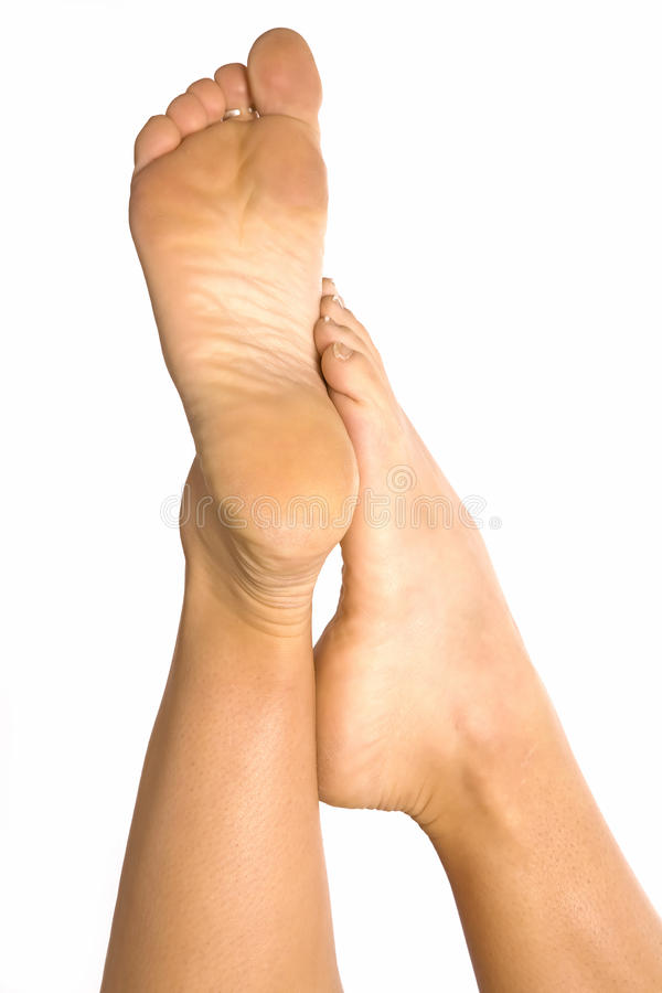 Foot On Leg Royalty Free Stock Photography