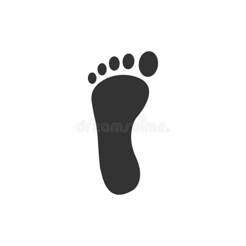 Foot, leg, print icon. Vector illustration, flat design. Vector illustration, flat design. Foot leg print icon royalty free illustration