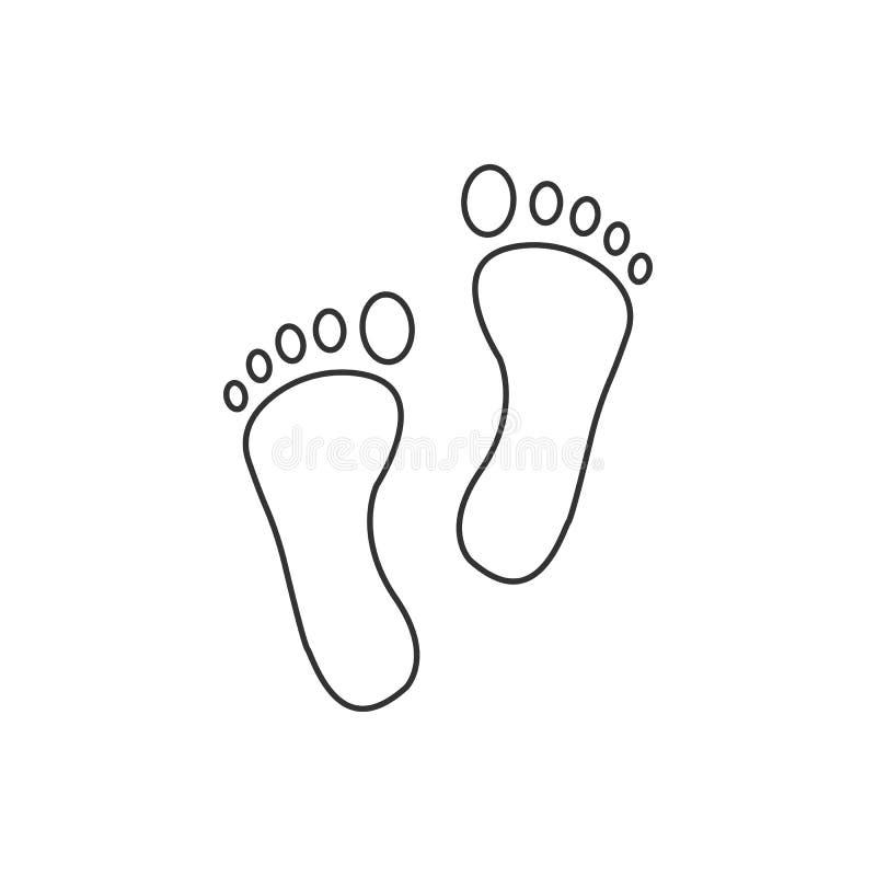 Foot, leg, print icon. Vector illustration, flat design. Vector illustration, flat design. Foot leg print icon vector illustration