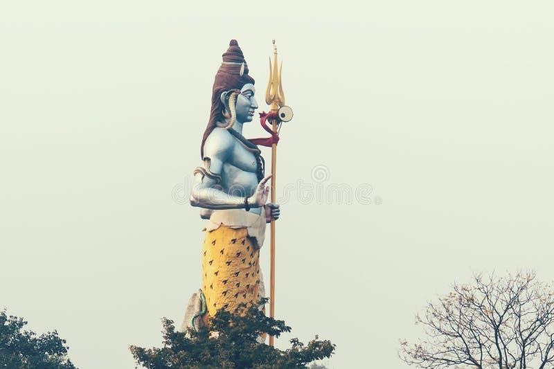 The 100 foot Lord Shiva Statue. Haridwar. India. stock photos
