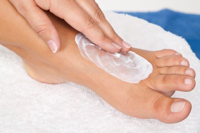Foot lotion royalty free stock photos