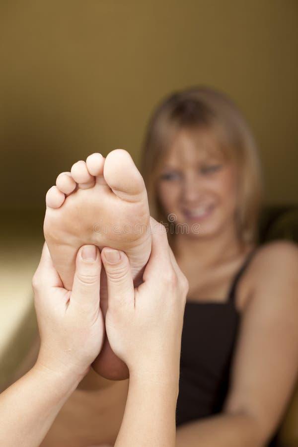 Foot masage royalty free stock photo