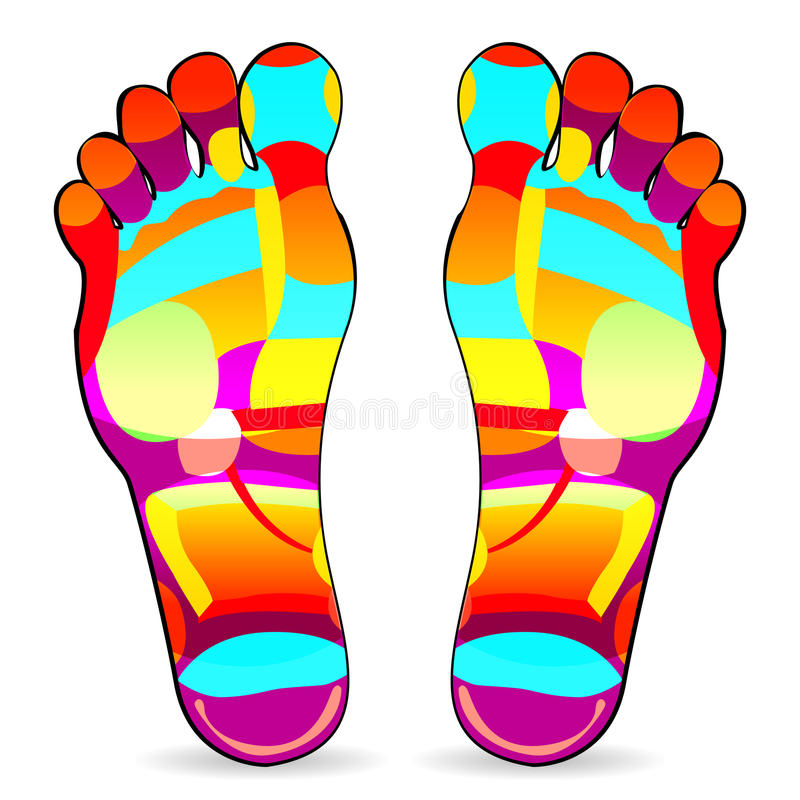 Download Foot massage stock vector. Illustration of colorful, ancient - 20185201