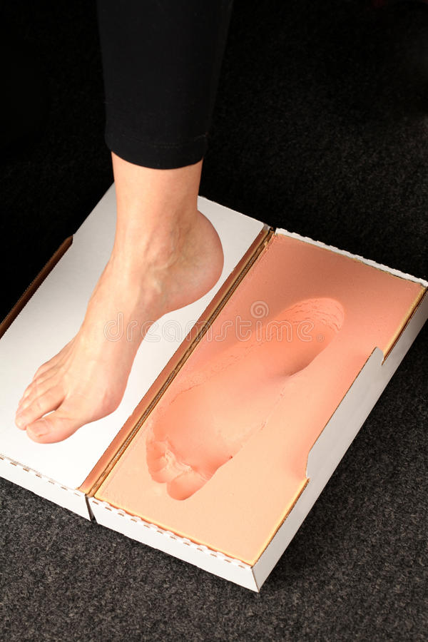 Free Foot Measurement For Orthotics Stock Photography - 48448462