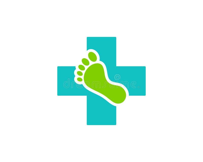 Foot Medicine Icon Logo Design Element royalty free illustration