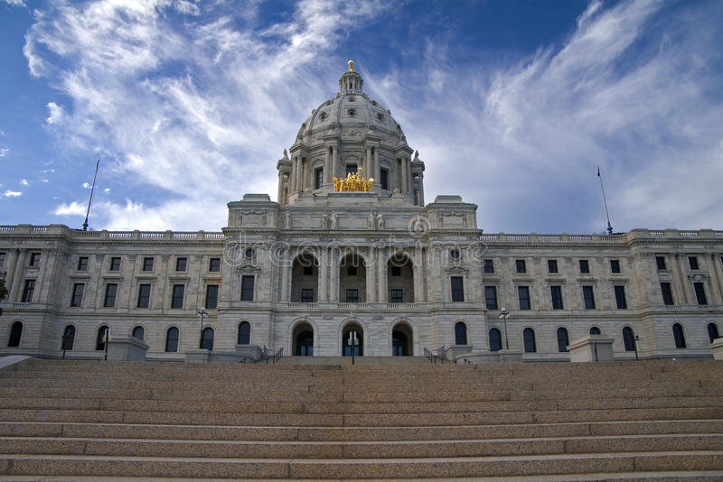 At the Foot of the Minnesota Capitol Steps royalty free stock photo