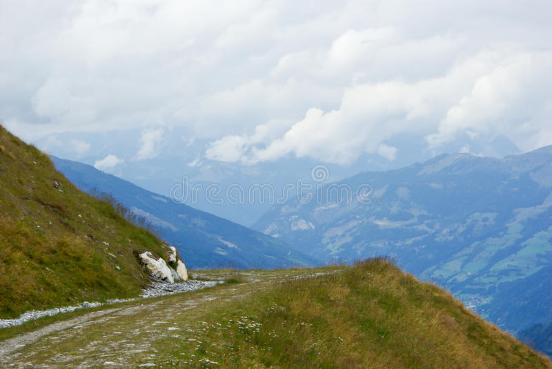 Download Foot path with a view stock image. Image of alps, view - 25470939