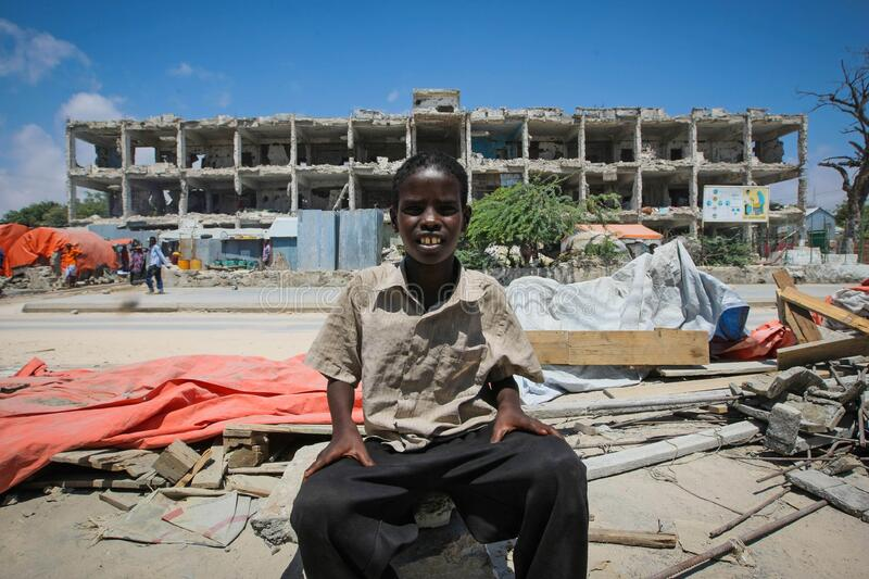 On foot patrol in Mogadishu with an AMISOM Formed Police Unit 12 royalty free stock images