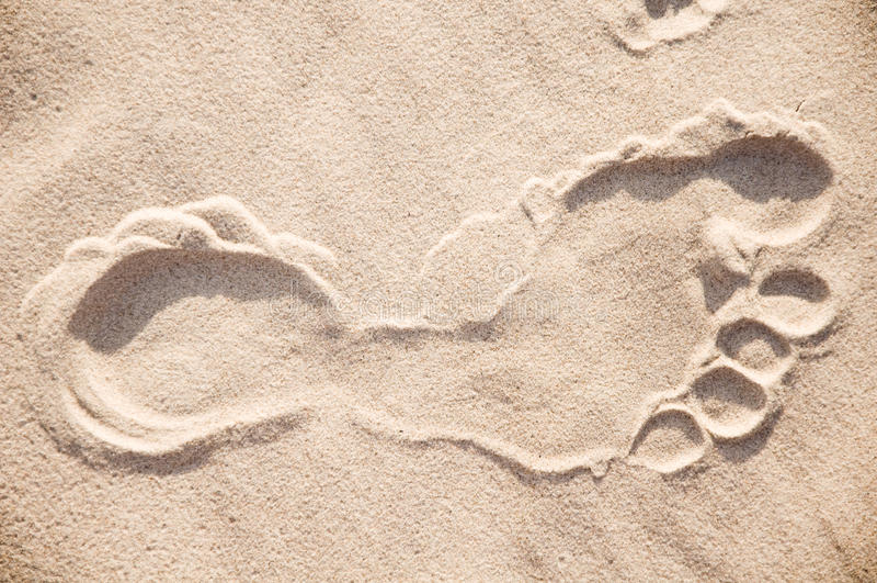 Foot print. stock photography