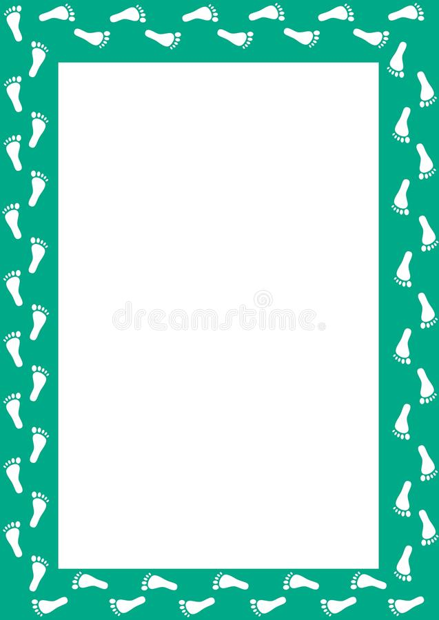 Foot Print Border vector illustration