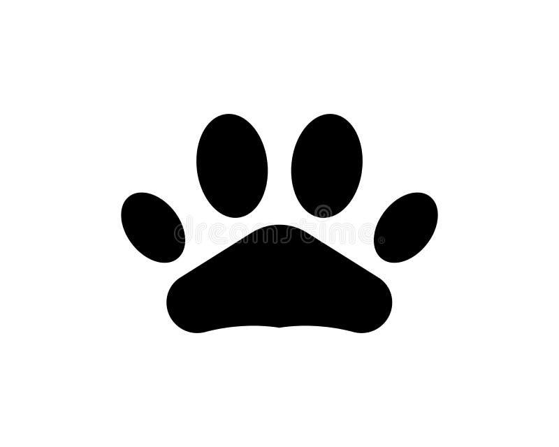 Foot print dog animal pet logo and symbols. Foot print dog animal logo and symbols royalty free illustration