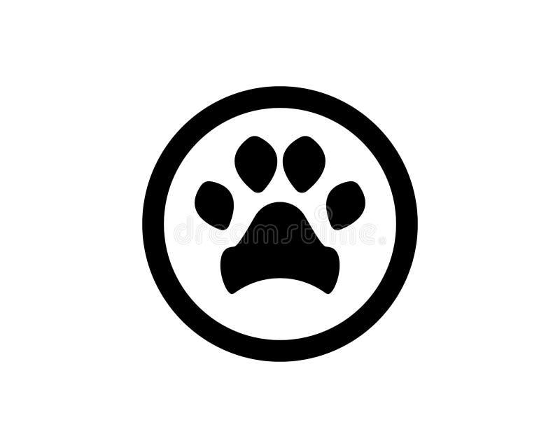 Foot print dog animal pet logo and symbols. Foot print dog animal logo and symbols vector illustration