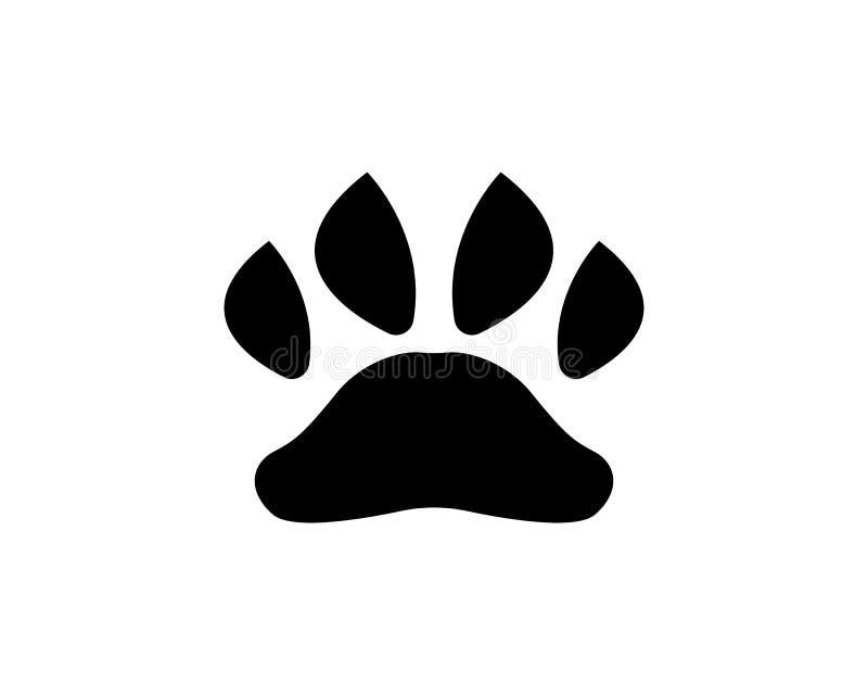 Foot print dog animal pet logo and symbols. Foot print dog animal logo and symbols stock illustration