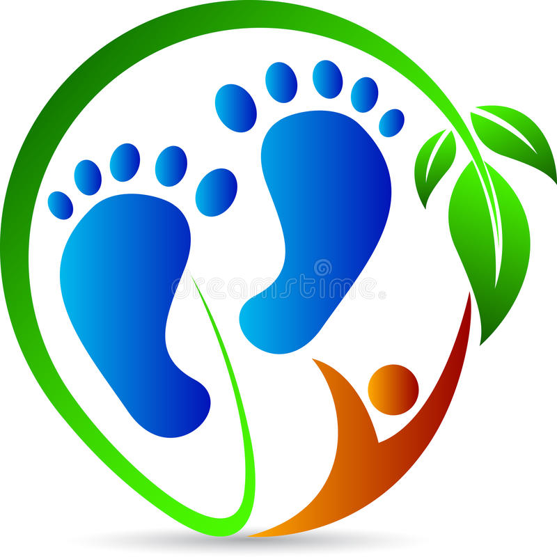 Foot print stock illustration