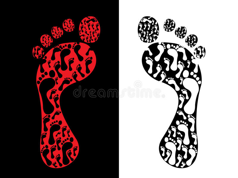 Download Foot prints stock vector. Image of biometrics, finger - 16220472