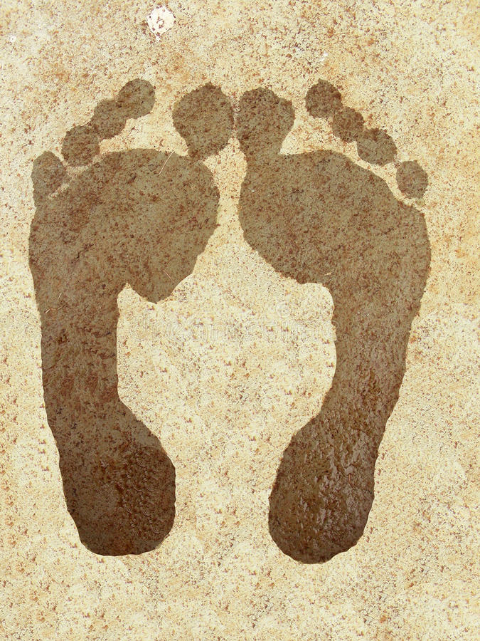 Foot Prints royalty free stock images