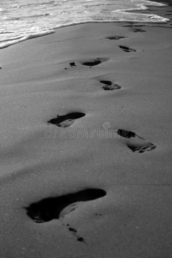 Foot prints stock photos