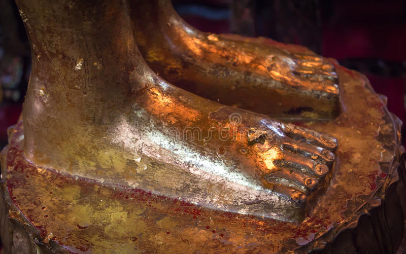 Download Foot of reclining buddha stock photo. Image of decoration - 39508894