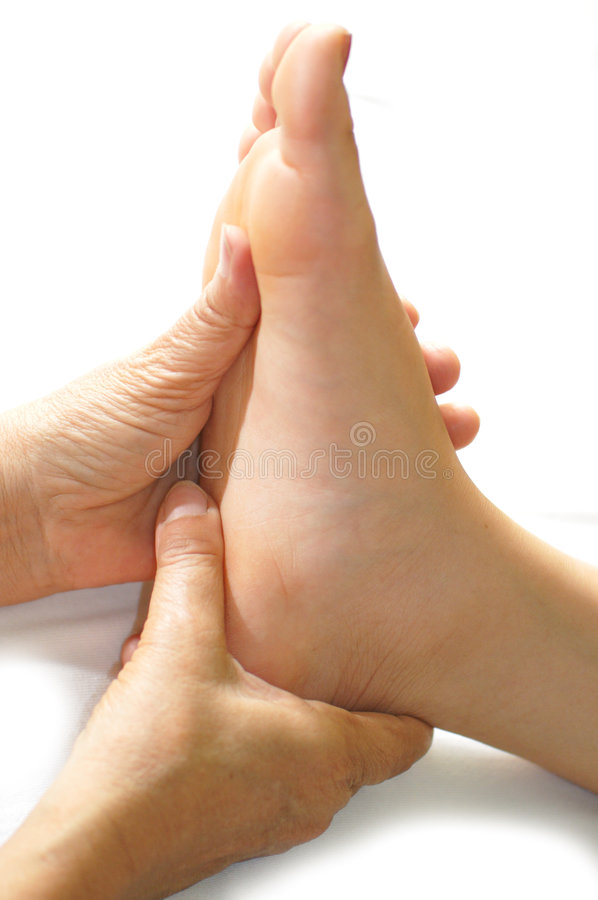 Foot Reflexology Series 3 royalty free stock photo
